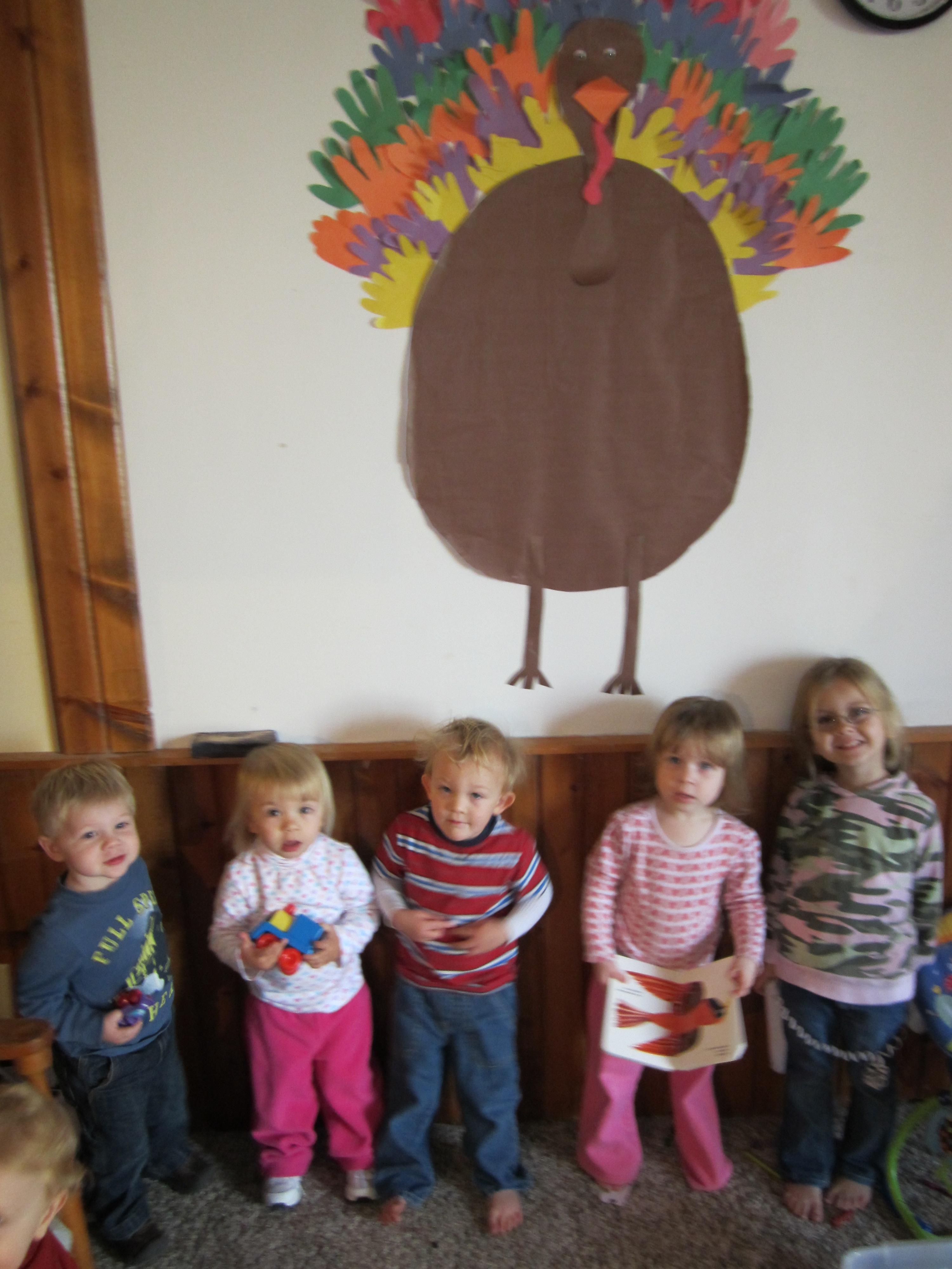 Thanksgiving turkey handprint bulletin board the pumpkin patch